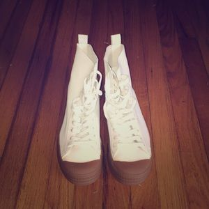 Topshop High Top White Sneakers